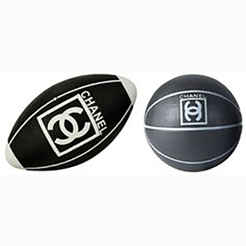 Chanel Basketball und Rugbyball