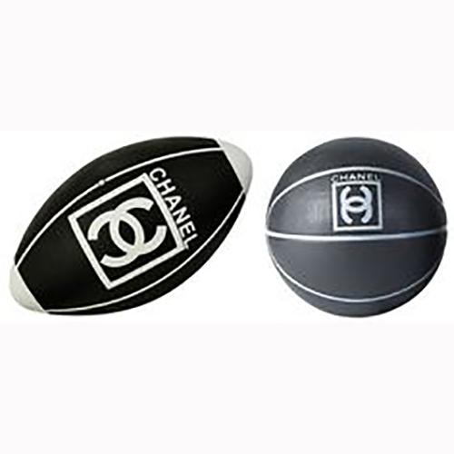 Chanel Basketball und Rugbyball