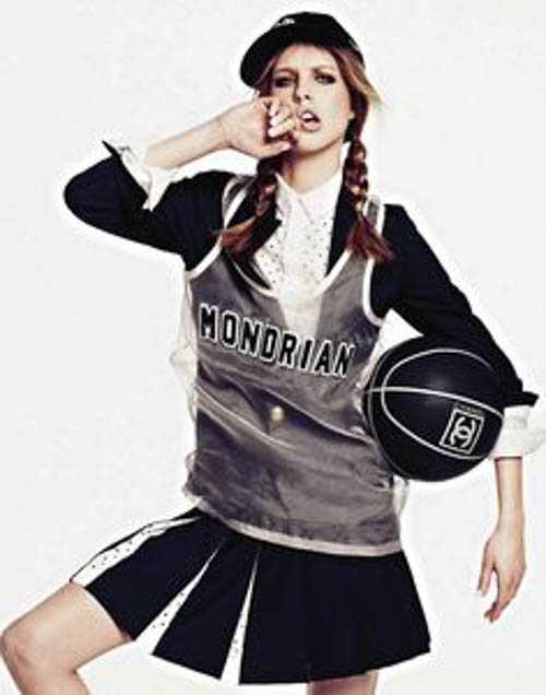 "Chanel Basketball -  Grazia France Chanel lux sports wear ""uber trendy"""