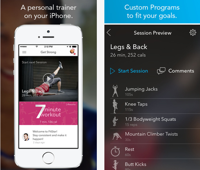 Fitness Apps - FitStar Personal Trainer — Burn Calories & Lose Weight with Video Fitness Workouts Led by Football Legend Tony Gonzalez