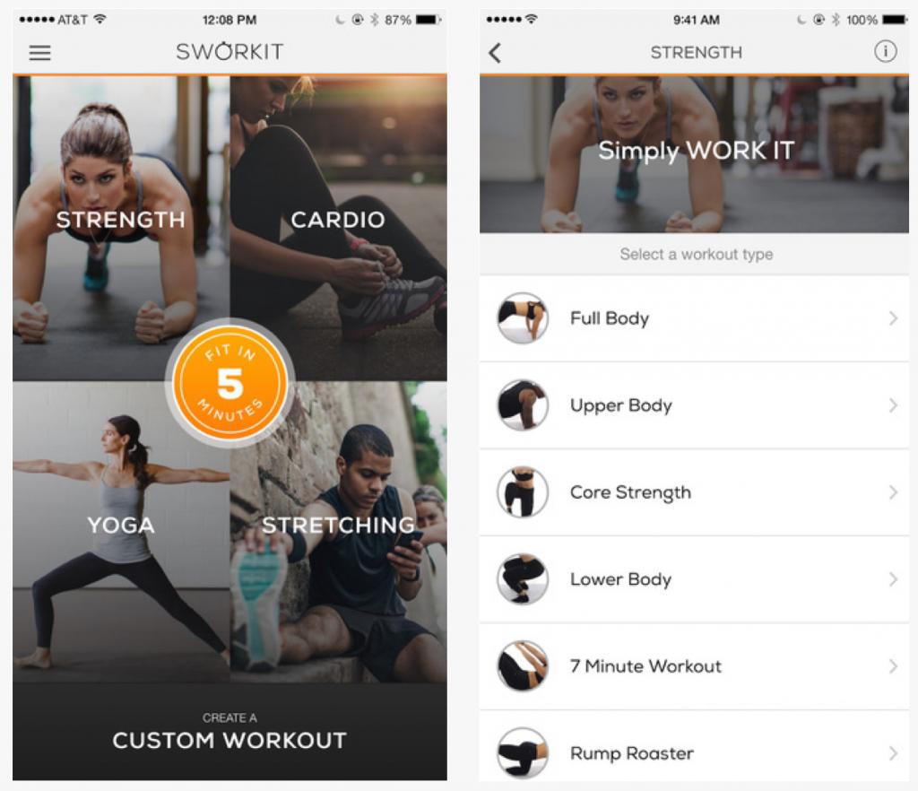 Fitness Apps: Sworkit