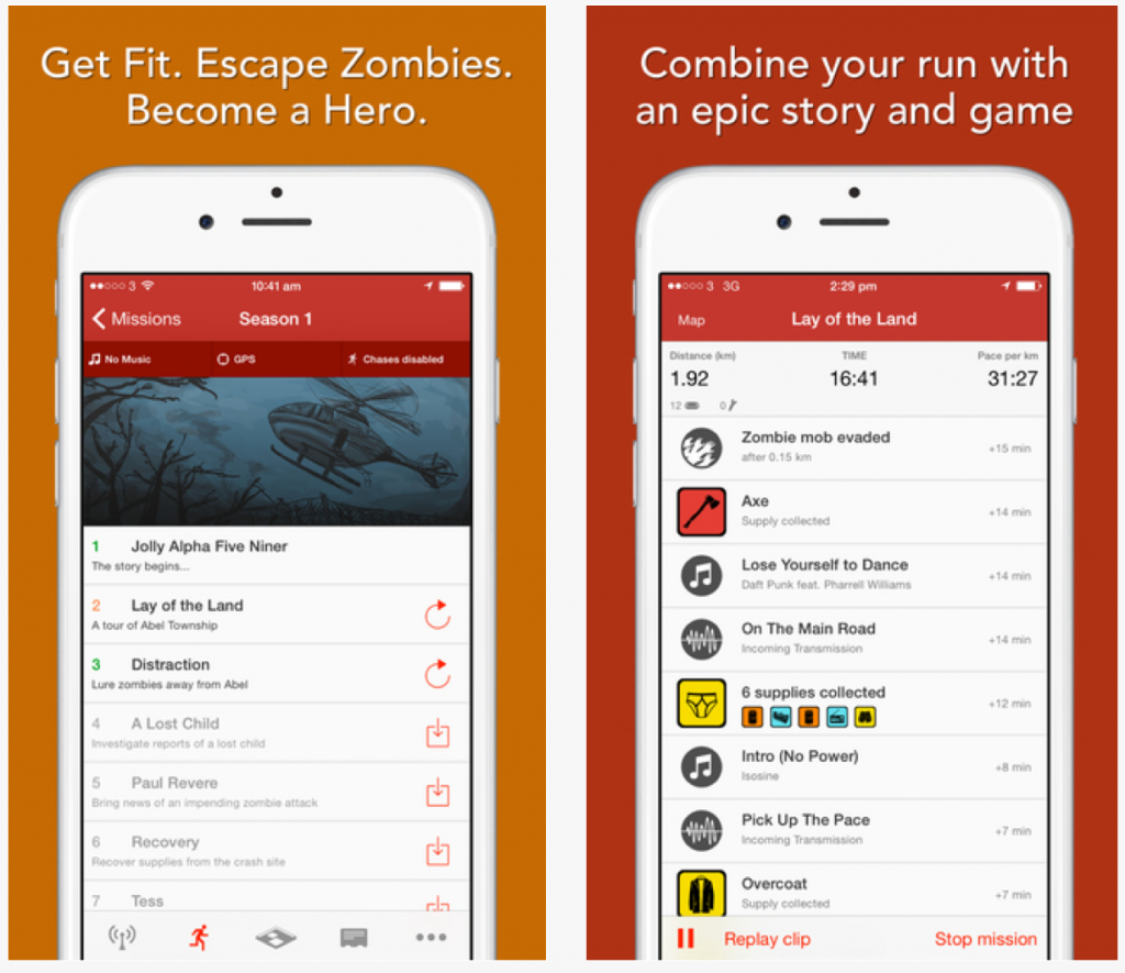 Fitness Apps: Zombies, Run! 3