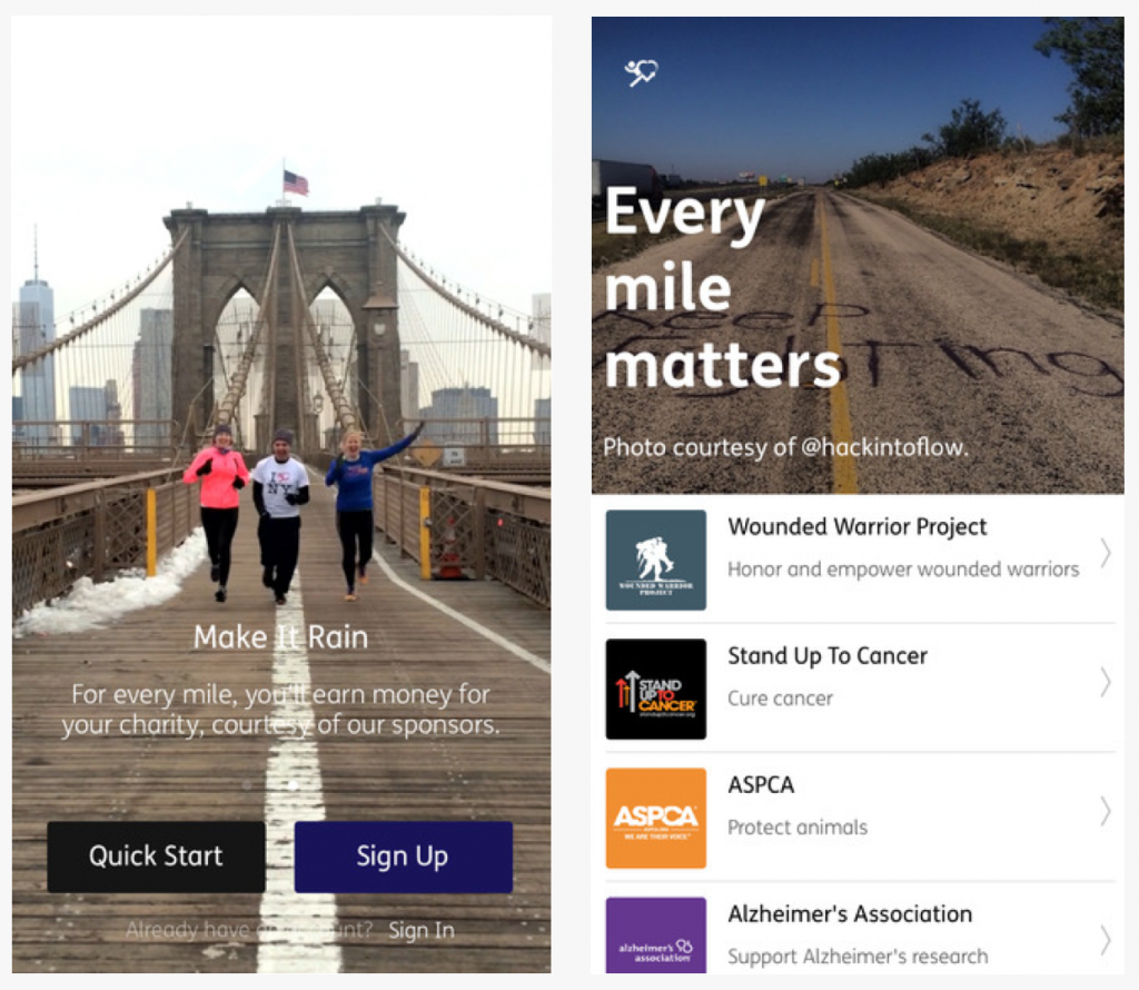 Fitness Apps: Charity Miles