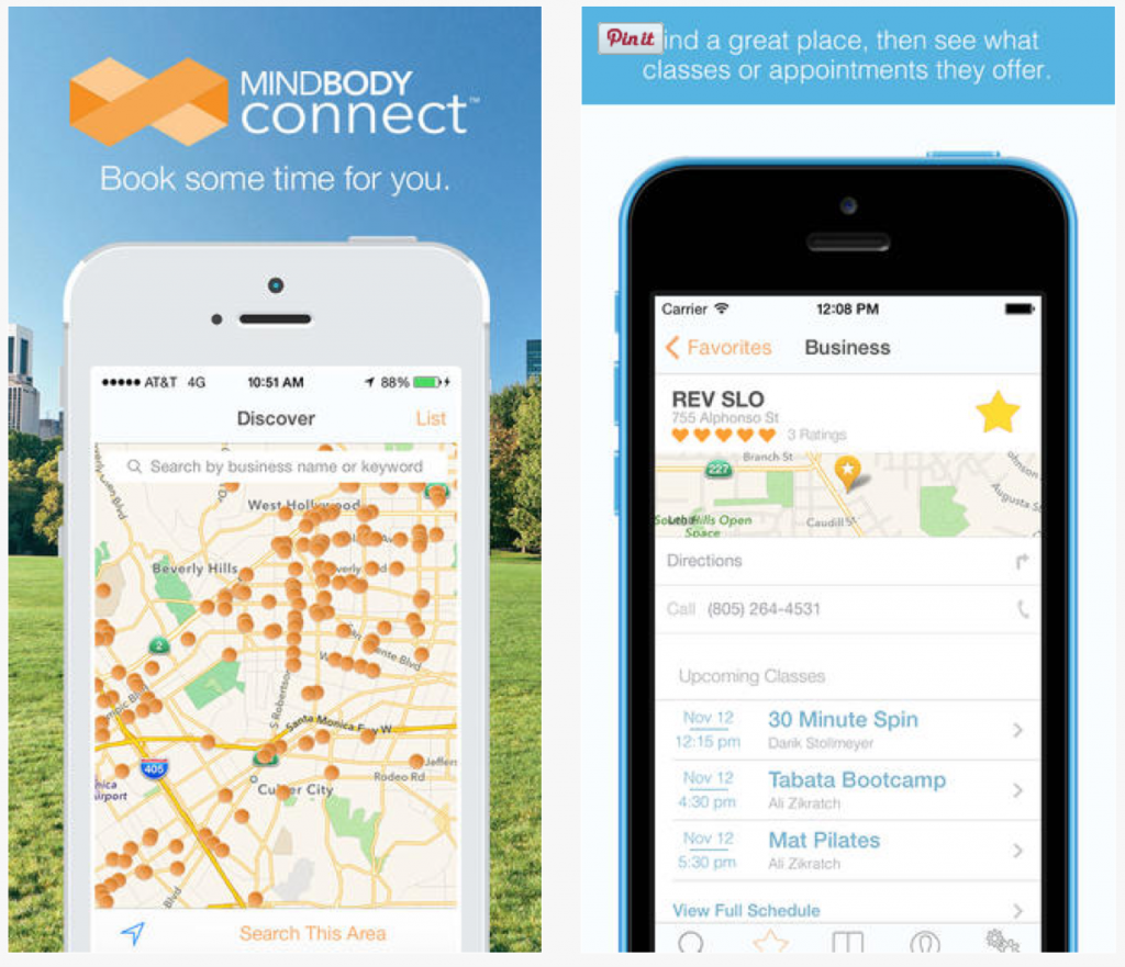 Fitness Apps: MINDBODY Connect