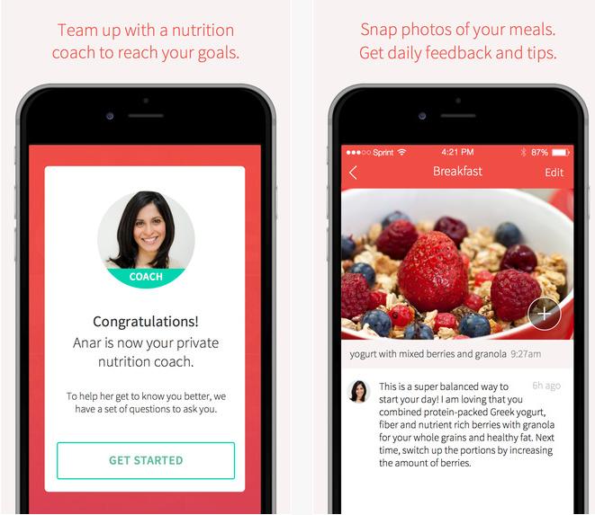 Ernährungs App RISE , der Ernährungs Coach für Unterwegs
