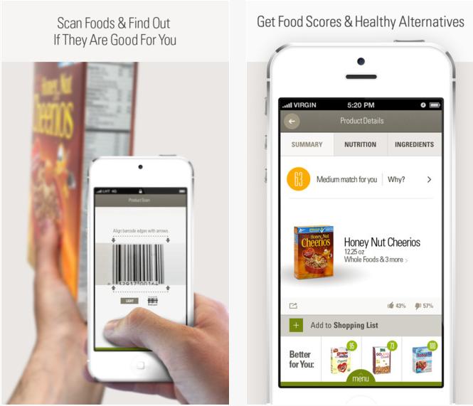 Ernährungs App ShopWell, die Food Scanner App für unterwegs
