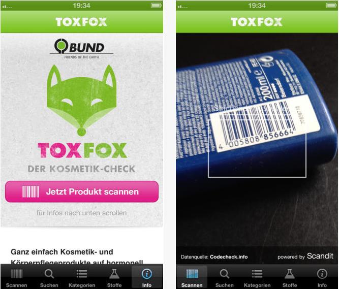 Tox Fox, der Lebensmittel und Kosmetik Scanner