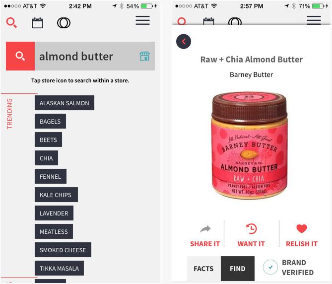 Ernährungs App Ingeredient 1 zeigt was in den Lebensmitteln ist