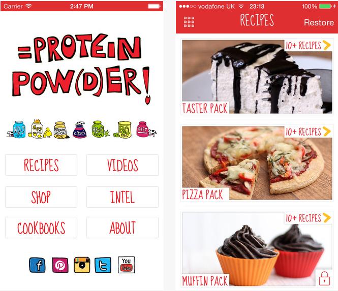 """Ernährungs Apps """"Protein Pow"""" bietet Eiweiß-Backrezepte für Süßigkeiten und Desserts ohne Kohlenhydrate"""