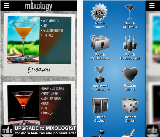 Mixology ist eine Cocktail Rezept App