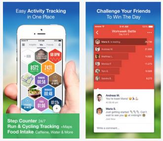 Die 7 besten Fitness Tracking Apps