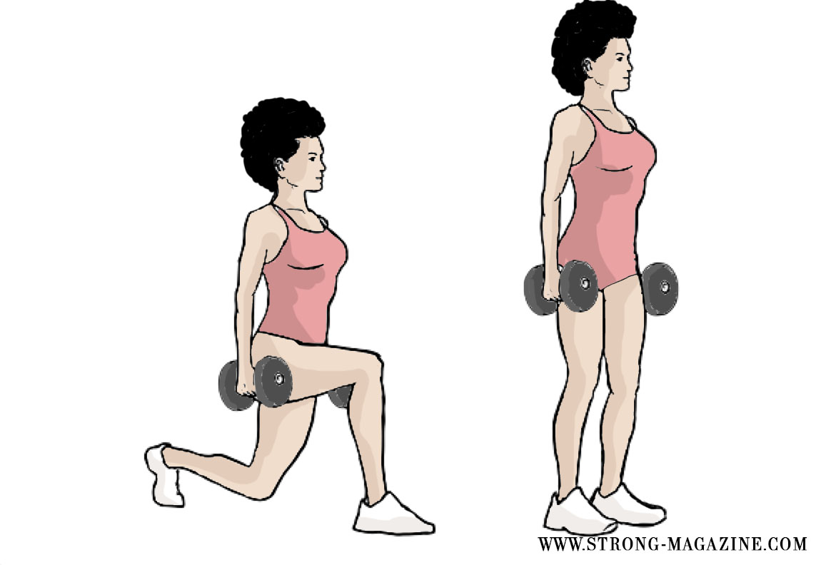Knackarsch ohne Squats - Walking Lunges