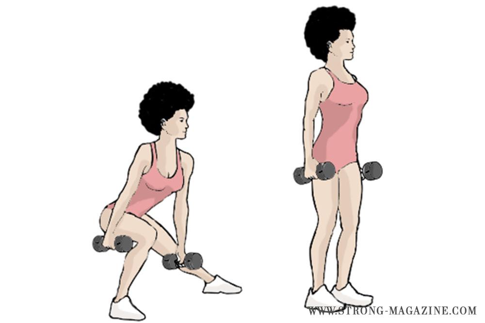 Übung gegen Cellulite: Side Lunge - seitlicher Ausfallschritt