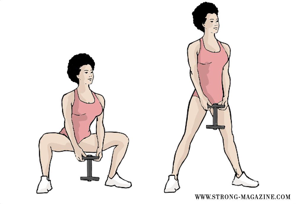 Übung gegen Cellulite: Plié Squat für die Oberschenkelinnenseite