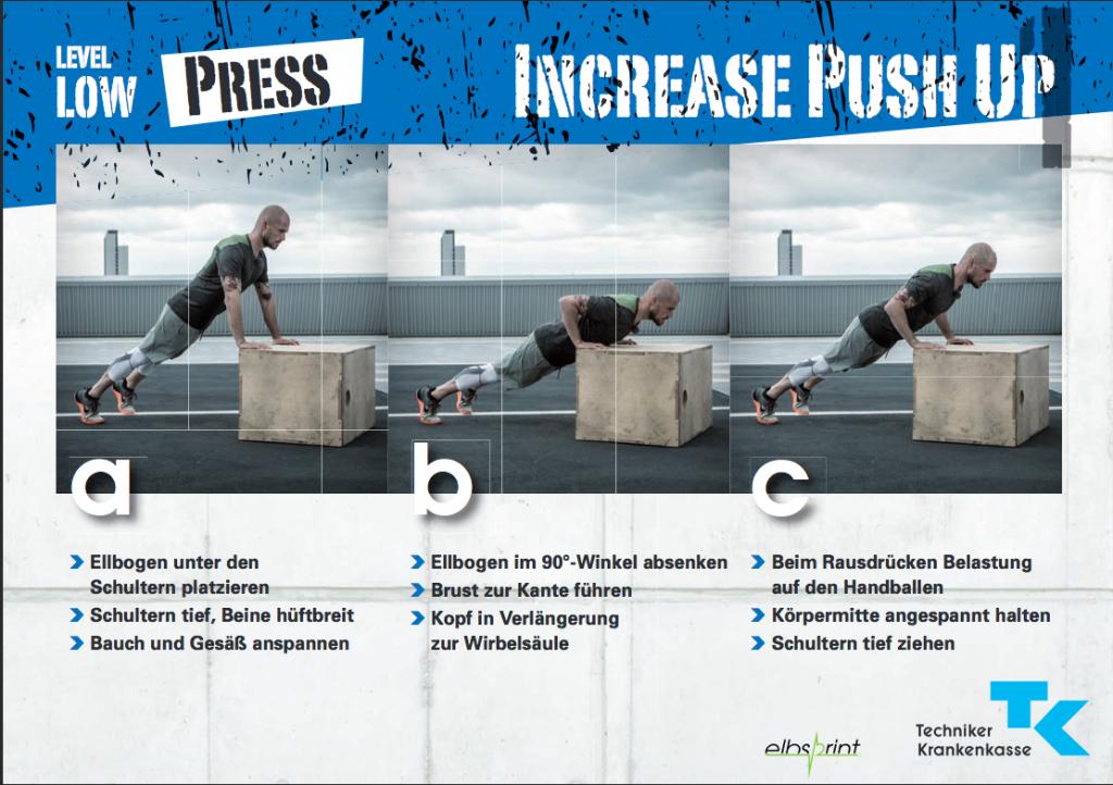 """Increase Push-Up in Kombination mit einem Get-Up - macht das mal """"So schnell wie geht"""" drei Sätze nacheinander!"""