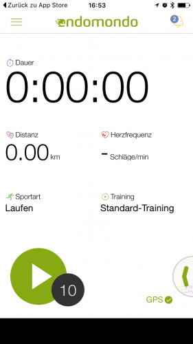 Screenshots der Endomondo App von Under Armour zum tracken der You VS the Year Challenge