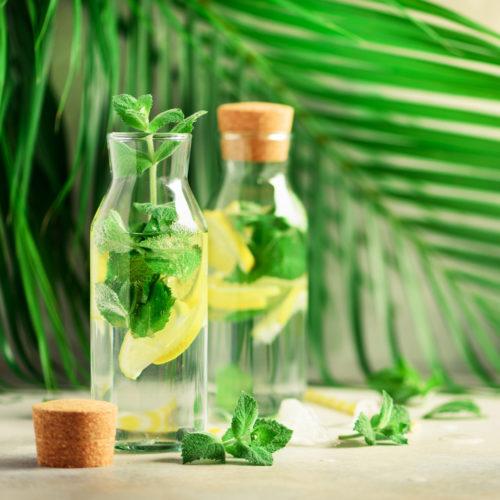 Zitronen-Detox Wasser Rezept zum Entschlacken morgens