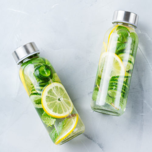 Gurken-Zitronen Detox Wasser Rezept
