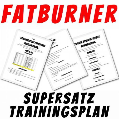 Fatburner Supersatz Trainingsplan für Frauen mit Fokus auf Bauch, Beine, Po und Trizeps