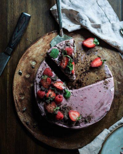 Erdbeer-Zitronen Low Carb Kuchen Rezept