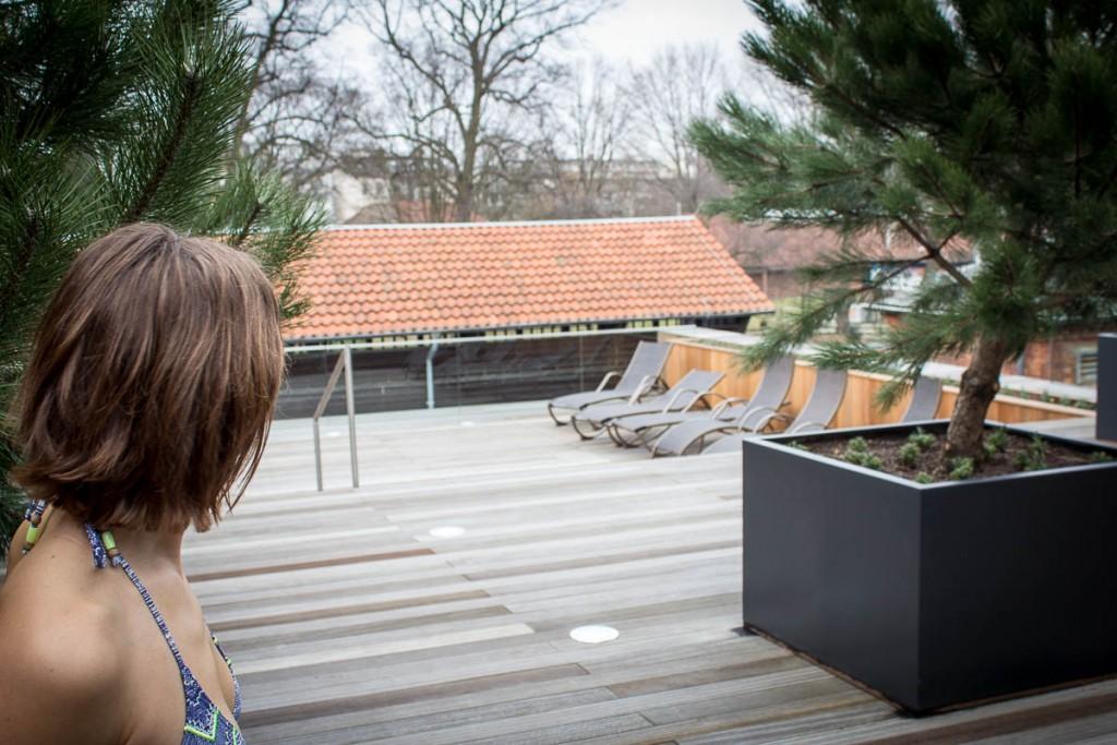 Die Dachterasse der Kaifu Sole - hier hat es den ganzen Tag über Sonne