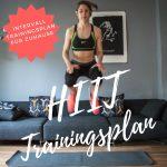 HIIT Trainingsplan - Intervall Trainingsplan für Zuhause