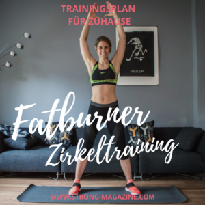 Fatburner Zirkeltraining - Workout für Zuhause Trainingsplan