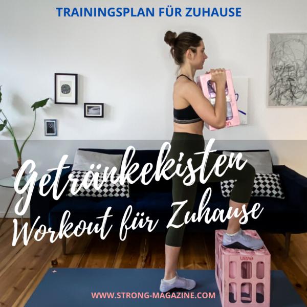 Getränkekisten Workout - Trainingsplan mit Haushaltsgeräten
