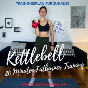 Kettlebell Trainingsplan für Frauen - Kugelhantel Workout für Zuhause