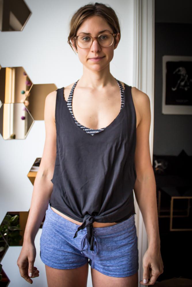 Männer T-Shirts umdesignen in Frauen Tops