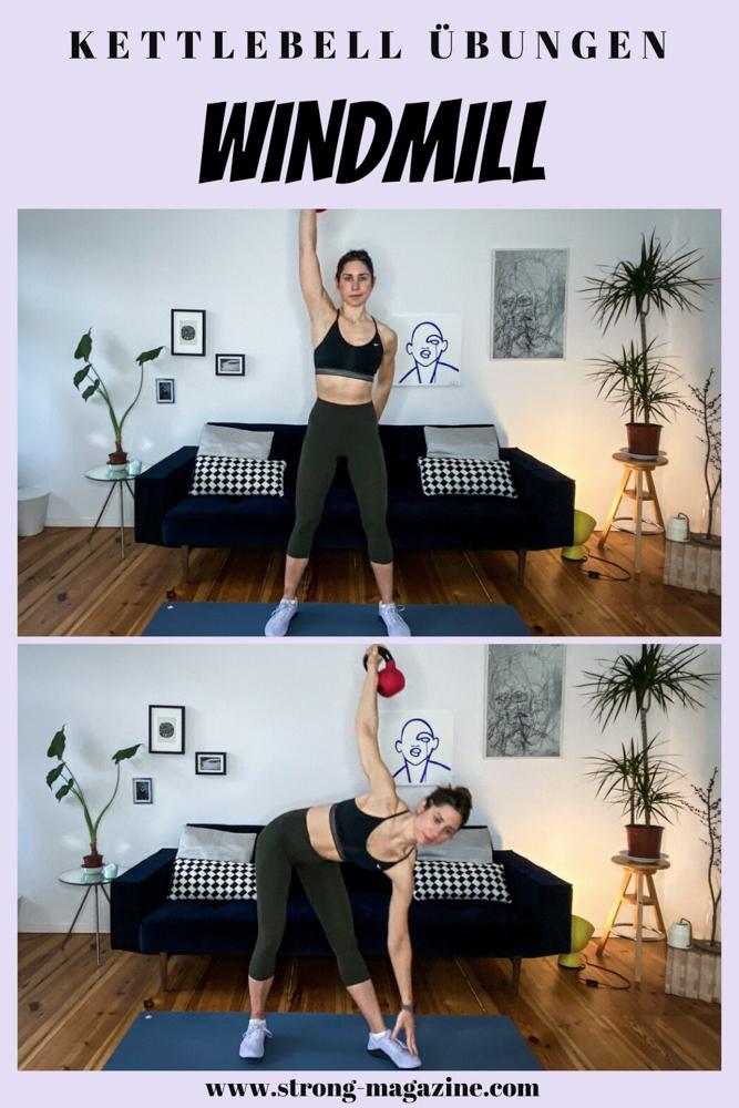 Windmill - Kettlebell Übung für den Bauch