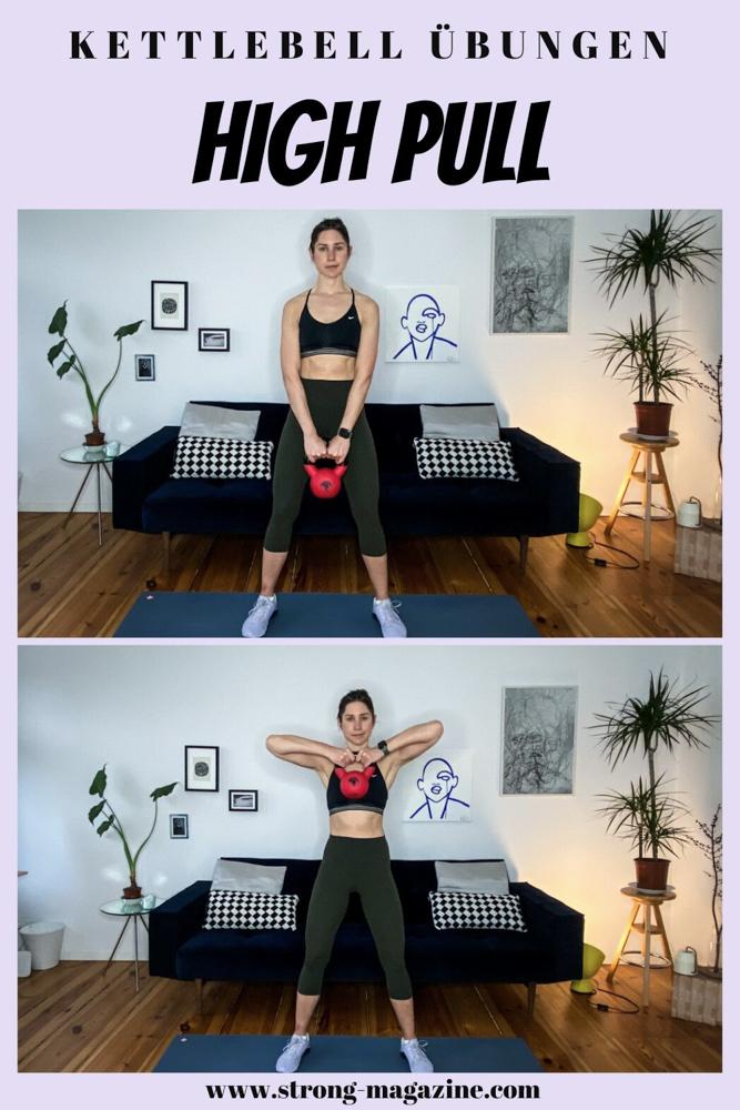 Kettlebell High Pull - Übung für den Rücken, Schultern und Arme