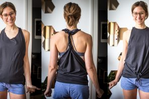 Männer T-Shirts selbst gestalten für Frauen – DIY Schnitt Anleitung