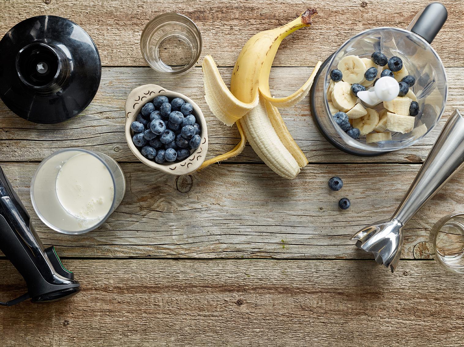 Bananen Beeren Protein Riegel Rezept selber machen