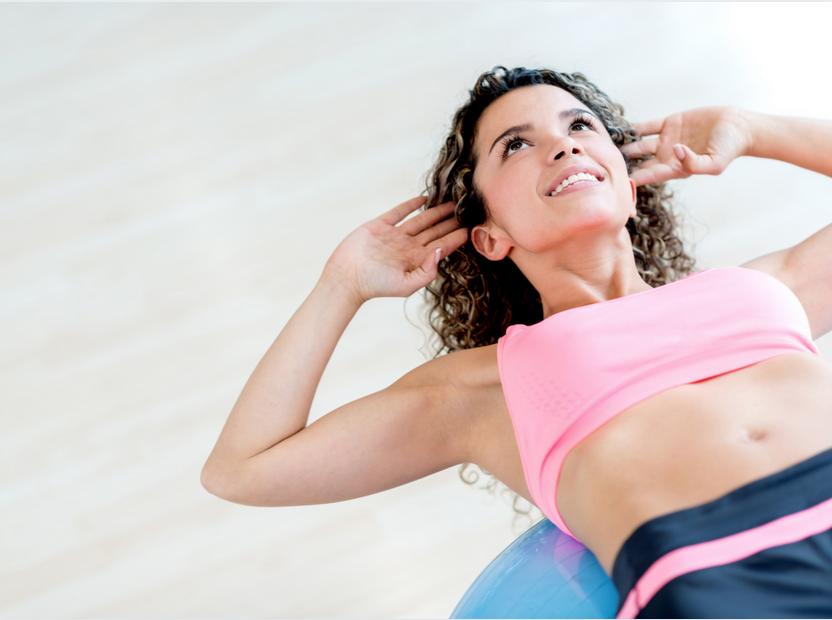 Bosu Ball Crunch - Anleitung Bauchmuskeltraining auf dem Bosu Ball