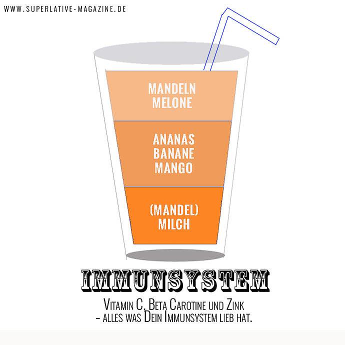 Smoothies Rezepte zum Abnehmen - Smoothie Rezepte zum Immunsystem stärken