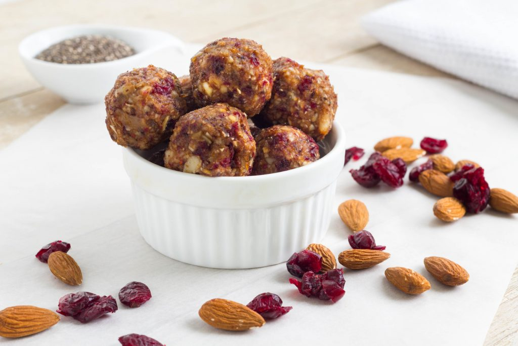 Healthy Paleo Raw Energy Balls Cranberry Mandel Energy Bites
