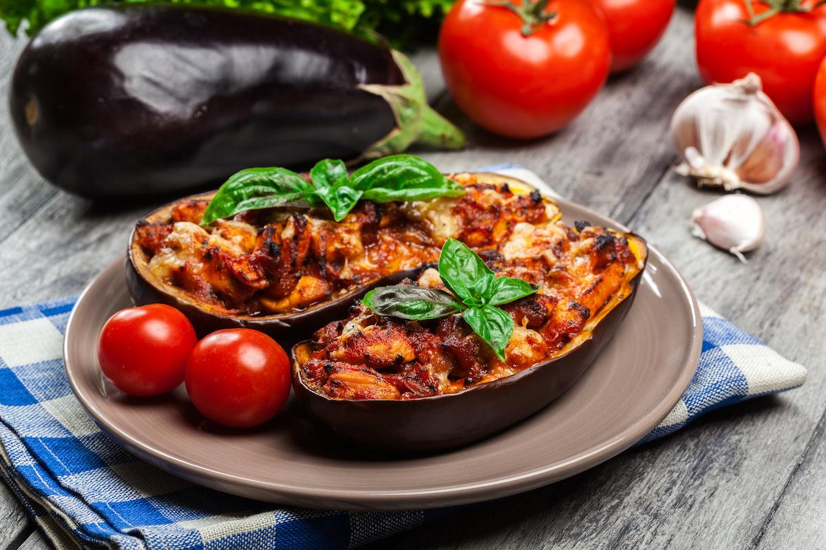 Low Carb Abendessen: Auberginen-Schiffchen