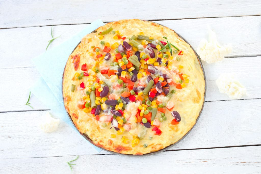 Low Carb Abendessen: Blumenkohl Pizza
