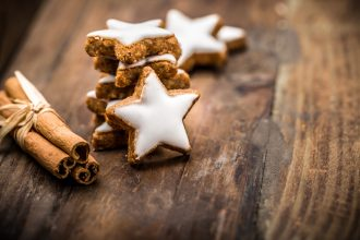 Ketogene Zimtsterne Low Carb Weihnachtsplätzchen ohne Zucker und ohne Kohlenhydrate