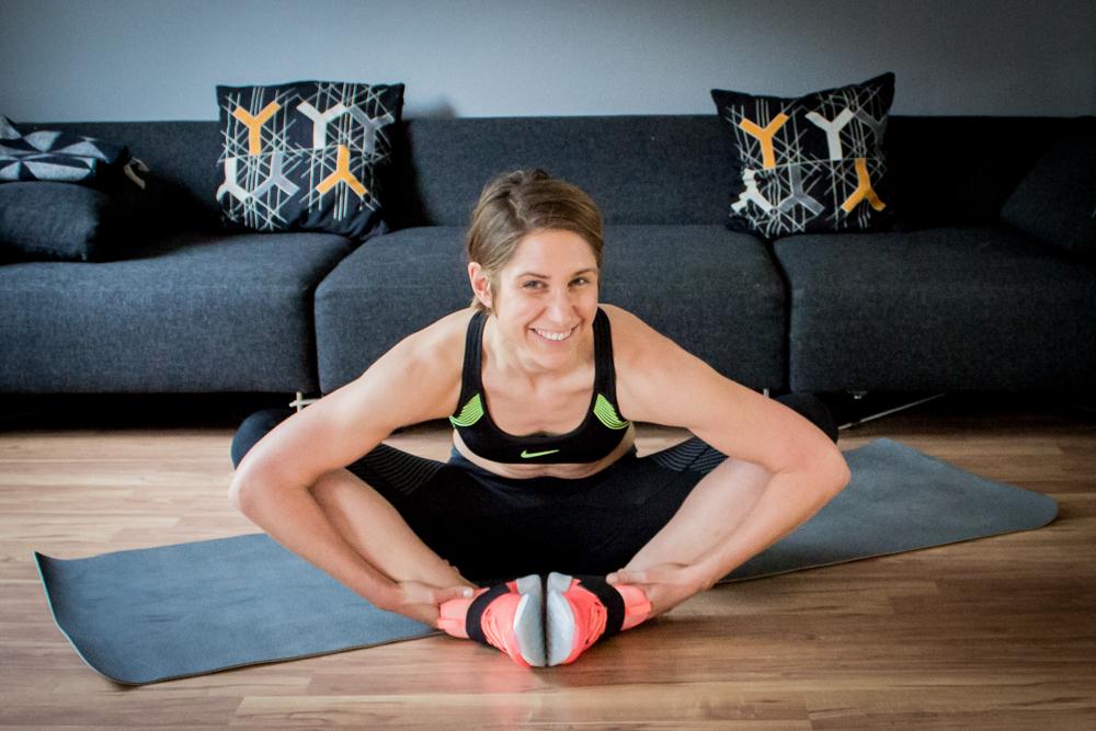 Dehnübungen für Hüfte, Beine und Rücken