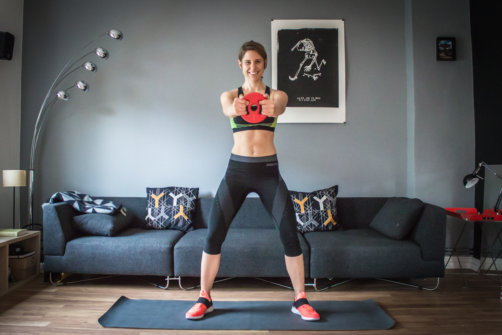 Sumo Squats mit Gewicht - HIIT Workout Plan
