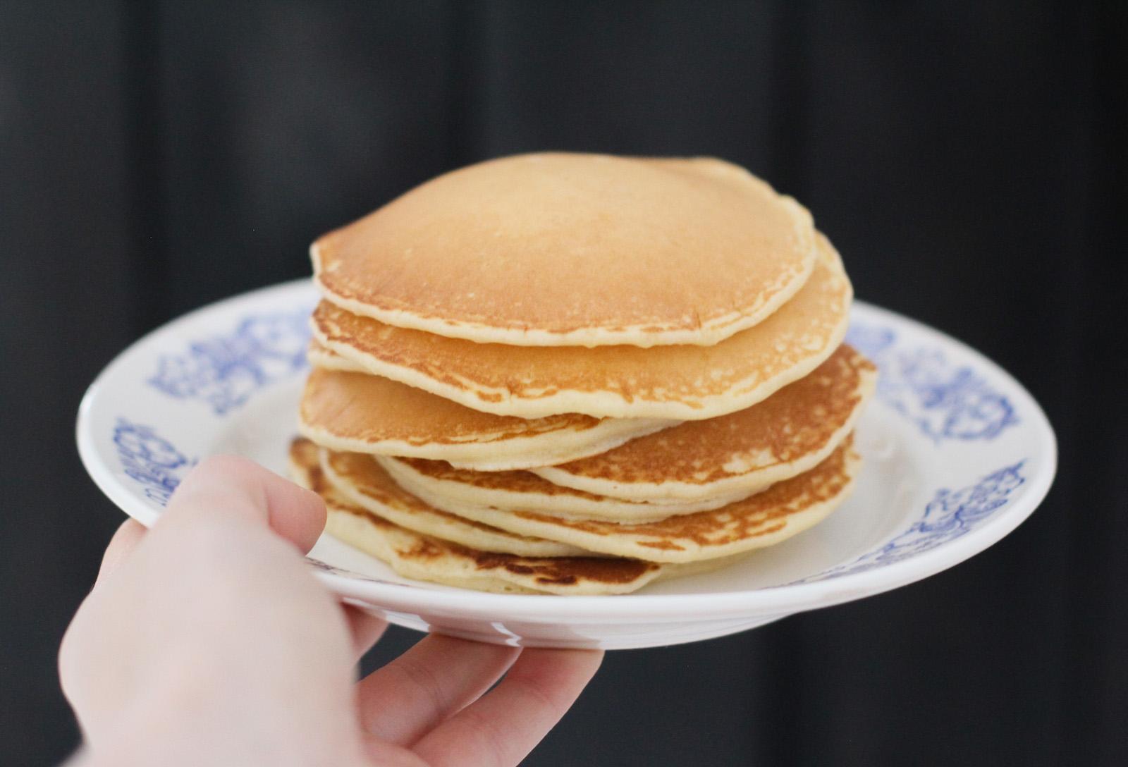 Rezept für klassische vegane Protein Pancakes