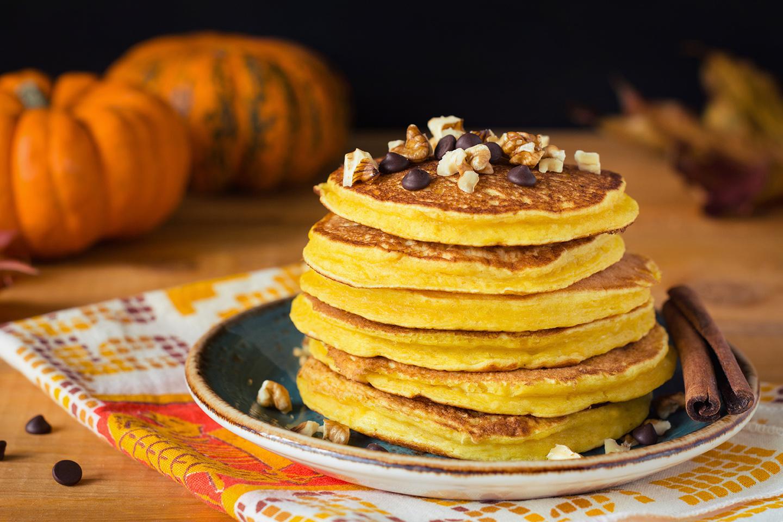 Vegane Kürbis Protein Pancakes Rezept