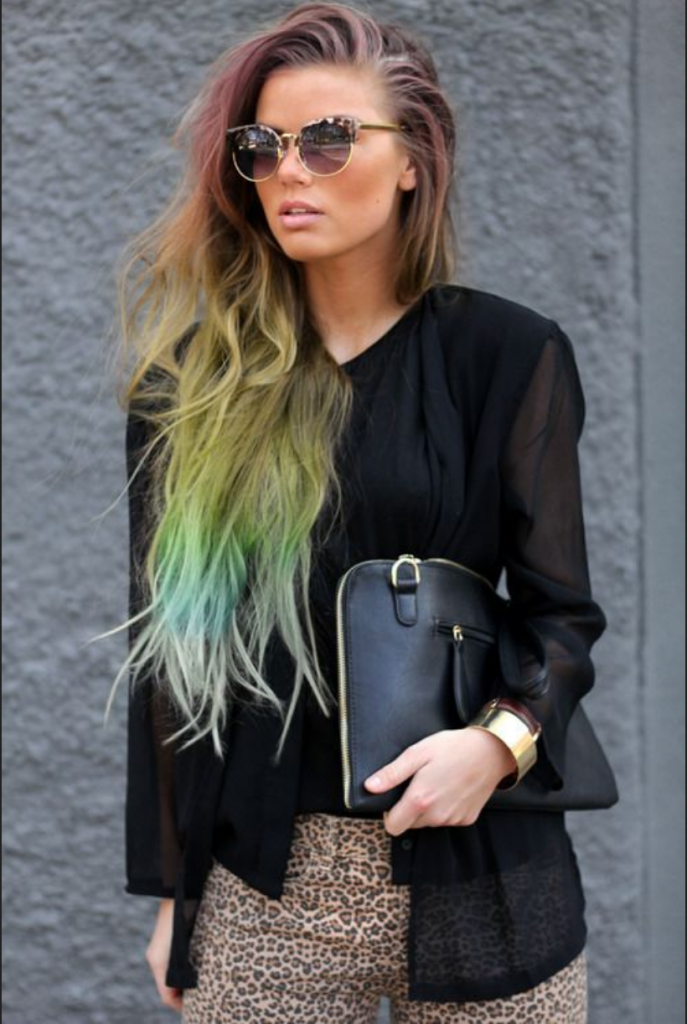 Beach Waves mit Färbungen - Dip Dye Beach Waves Look