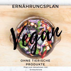 Veganer Ernährungsplan zum abnehmen für 1 Woche inkl. Einkaufsliste