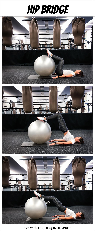 Übung für Beinbeuger: Hip Bridge (als Ersatz zur Beincurlmaschine)