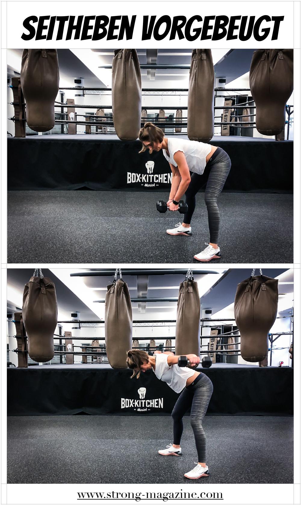 Übung für den Rücken: Seitheben vorgebeugt Anleitung