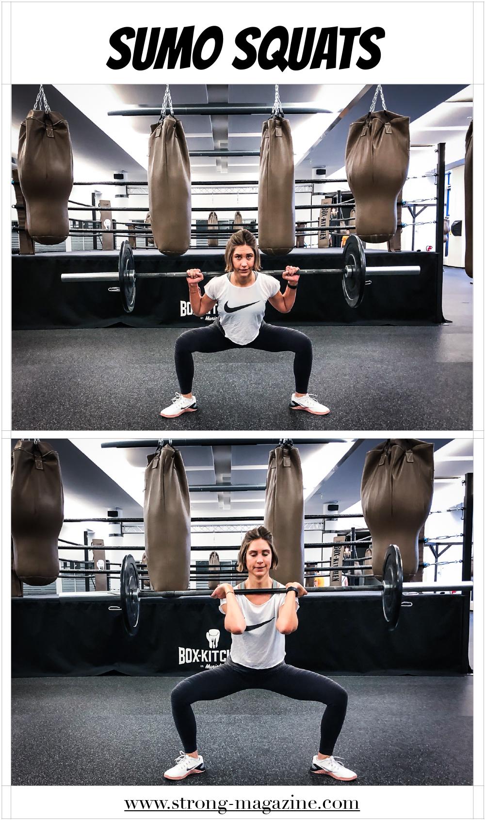Übung für die Oberschenkelinnenseite: Sumo Squats