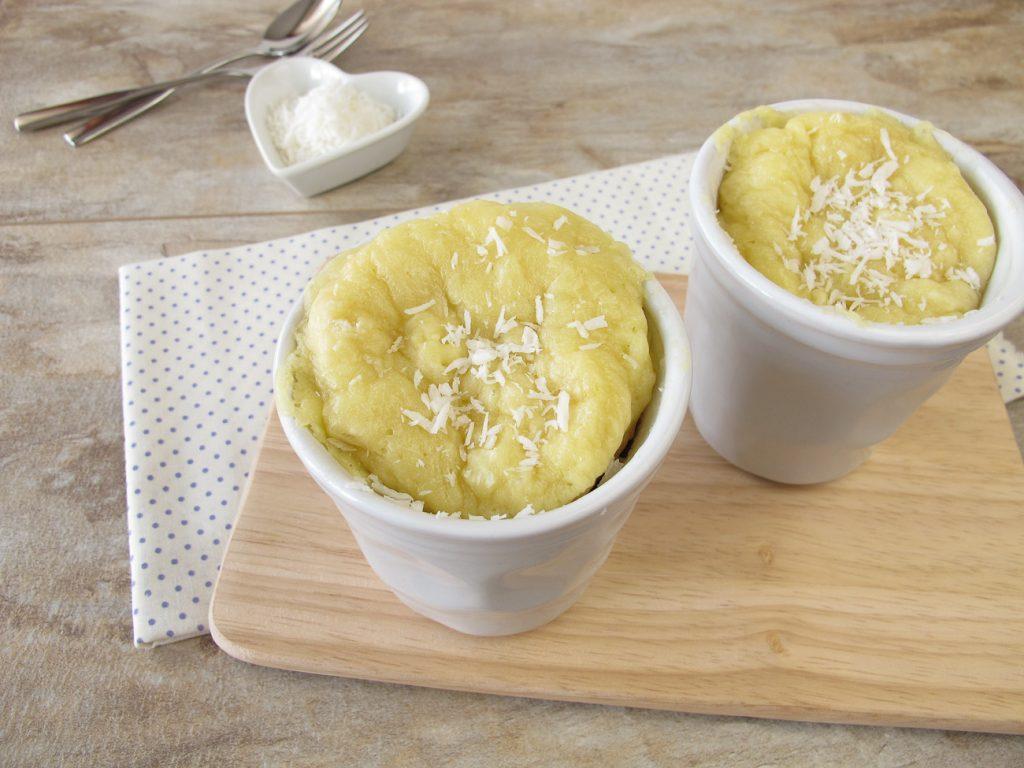 Vanille Protein Low Carb Tassen-Kuchen